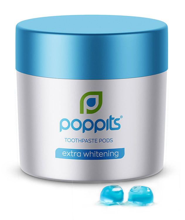 extra whitening toothpaste pods